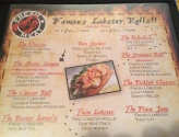 The Galley Lobster Roll Menu
